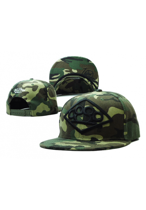 10 Deep Brass Camo Snapback Hat (Green)