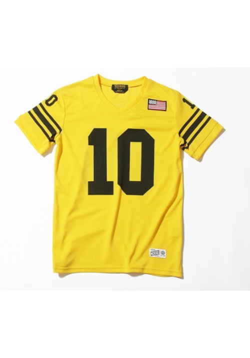 10 Deep V-neck Baseball T-Shirt (Yellow)