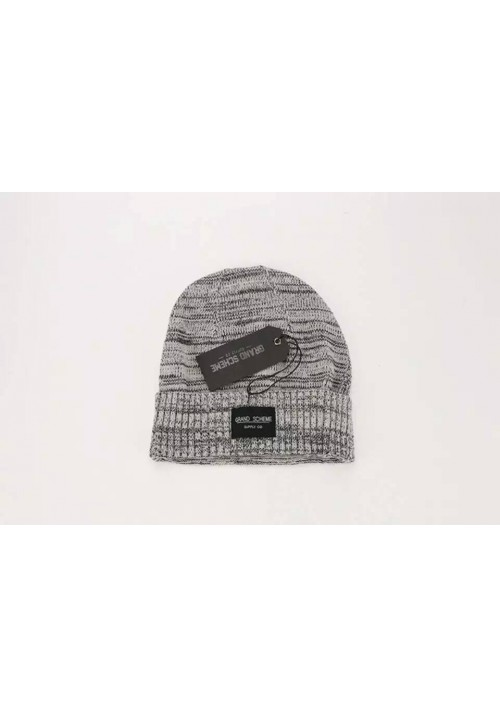 Grand Scheme Knit Graphite Beanie Hat (Gray)