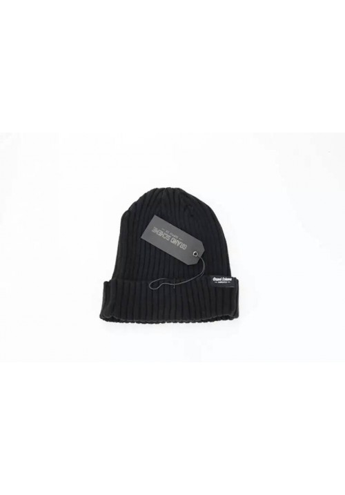 Grand Scheme Knit Solid Beanie Hat (Black)