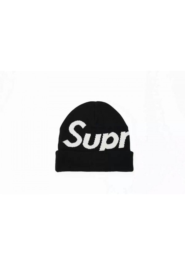 Supreme Logo Beanie Hat (Black)