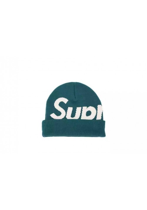 Supreme Logo Beanie Hat (Turquoise)