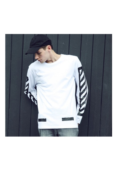 Off White Back Twill Long Sleeve (White)