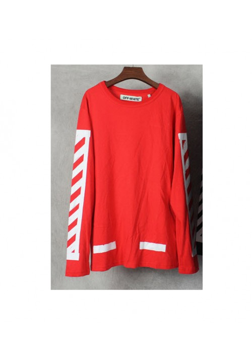 Off White Side Print Long Sleeve (Red)