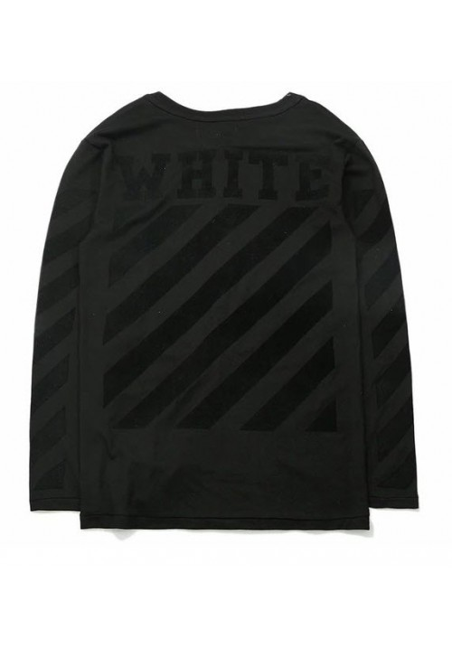 Off White Tonal Denim Long Sleeve (Black)