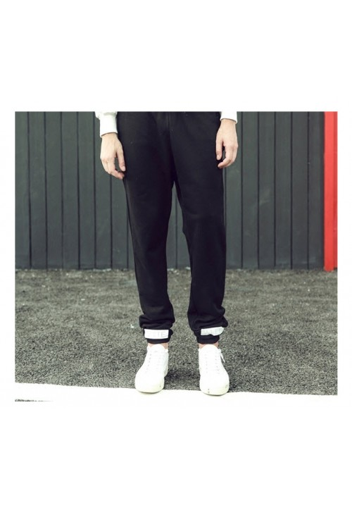 Off White Blue Letters Pants (Black)