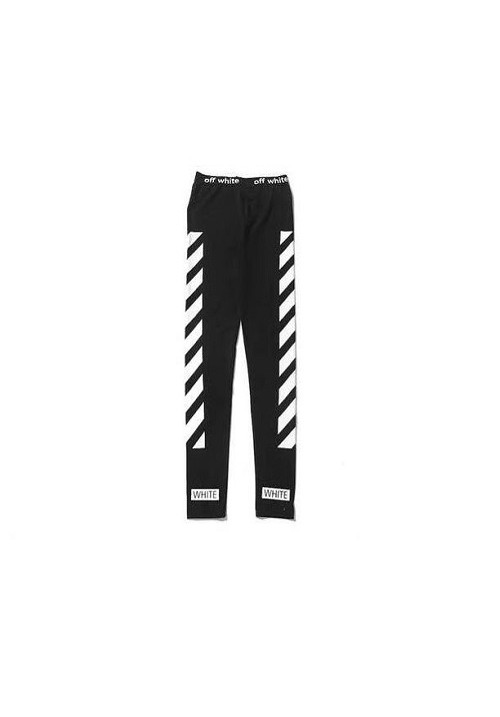 Off White White Stripes Pants (Black)