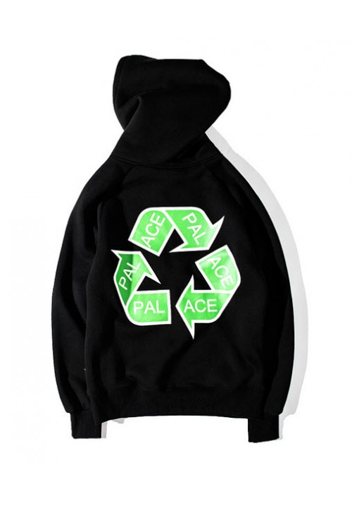 Palace Recycling Triangle Hoodie (Black)