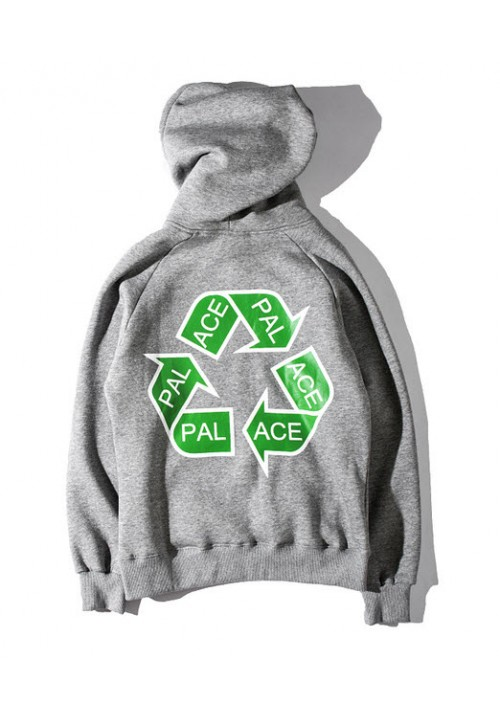 Palace Recycling Triangle Hoodie (Gray)