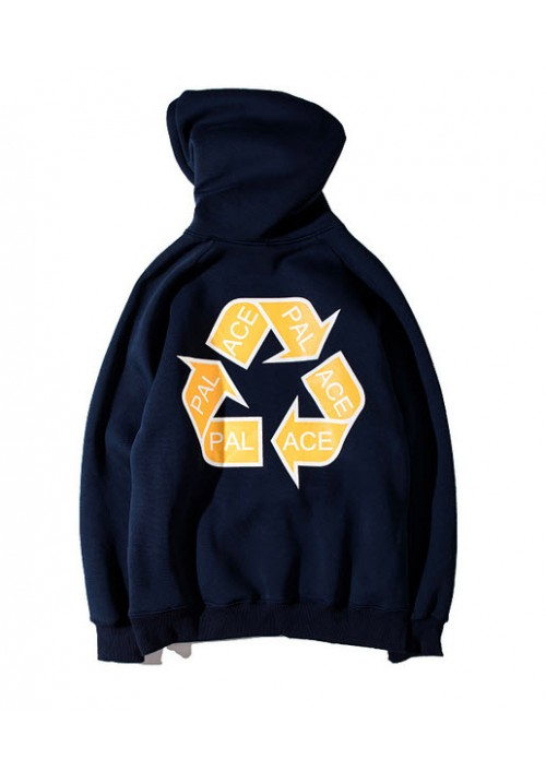 Palace Recycling Triangle Hoodie (Navy/Blue)