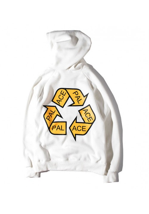 Palace Recycling Triangle Hoodie (White)