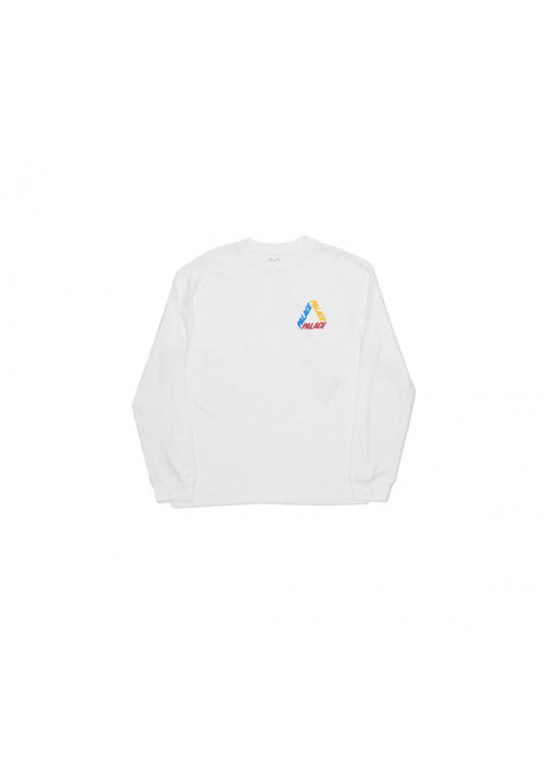 Palace Triangle Letters Long Sleeves (White)