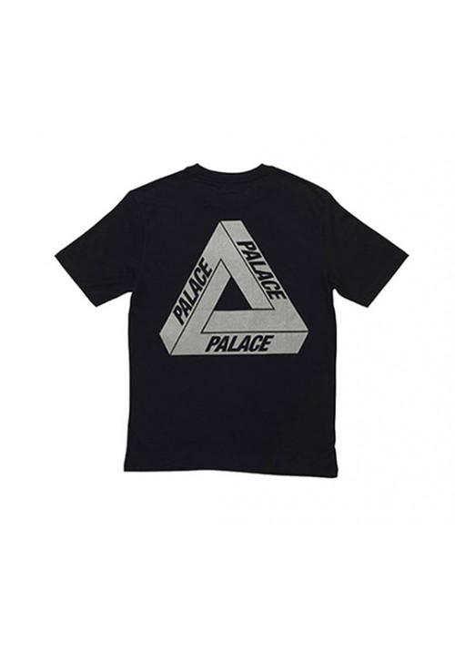 Palace Reflective Letters T-Shirt (Black)