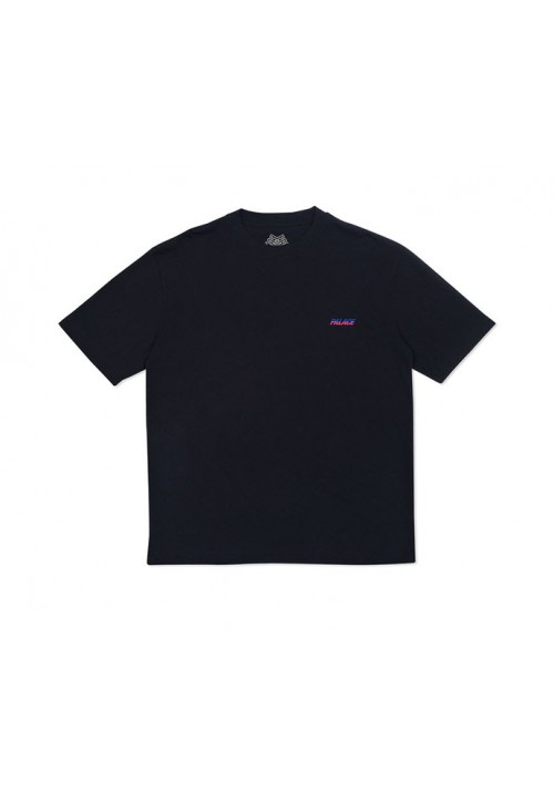 Palace Stripe Font T-Shirt (Black)