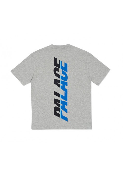 Palace Stripe Font T-Shirt (Gray)