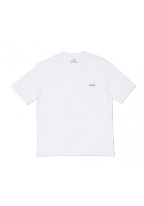 Palace Stripe Font T-Shirt (White)
