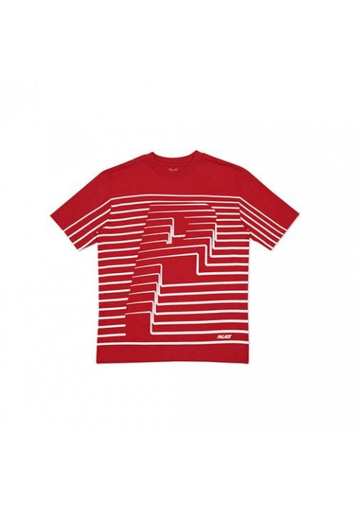Palace Stripes T-Shirt (Red)