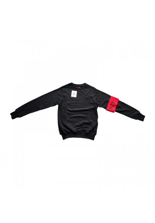 424 Sleeve Logo Sweater (Black)