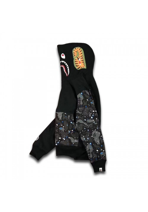 A Bathing Ape BAPE Space Camo Shark Hoodie (Black)