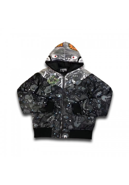 A Bathing Ape BAPE Space Camo Shark Hoodie (Blue)