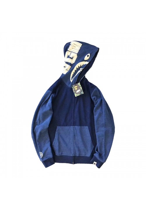 A Bathing Ape Bape WGM Denim Hoodie (Blue)