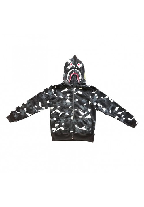 A Bathing Ape Camo Shark WGM Hoodie (Gray)