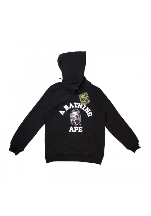 A Bathing Ape Crest Camo Face Hoodie (Black)