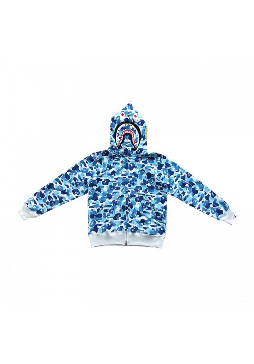 A Bathing Ape Camo Shark WGM Hoodie (Light/Blue)
