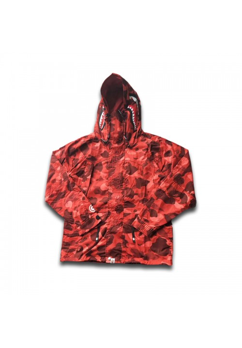 A Bathing Ape BAPE Shark Snowboard Hooded Jacket (Camo/Red)