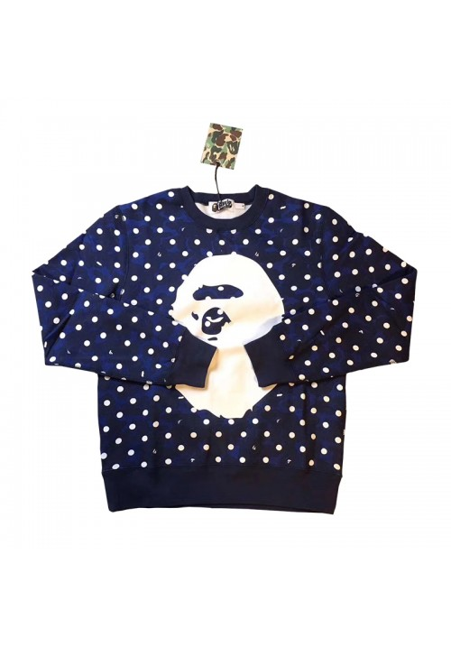 A Bathing Ape All Over Polka Dot Sweater (Blue)