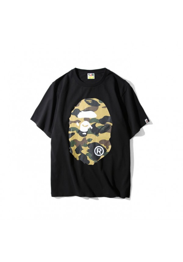 A Bathing Ape Bape Desert Camo Face T Shirt Black