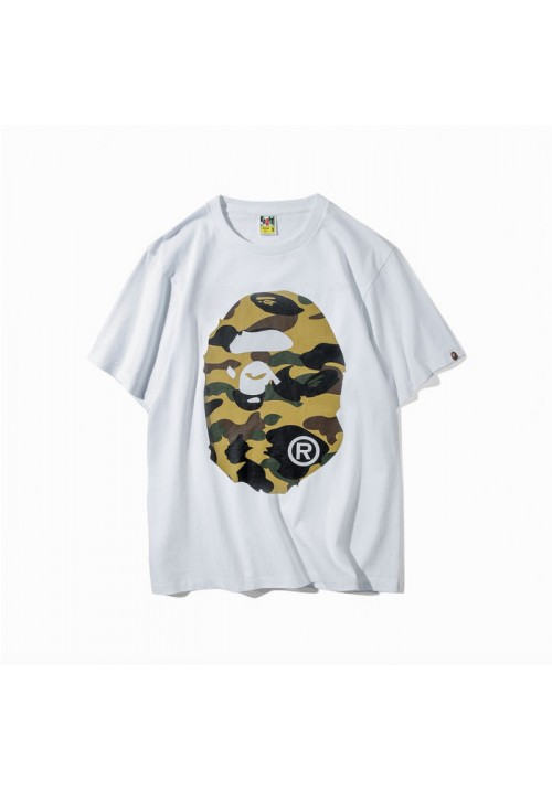 A Bathing Ape Bape Desert Camo Face T-Shirt (White)
