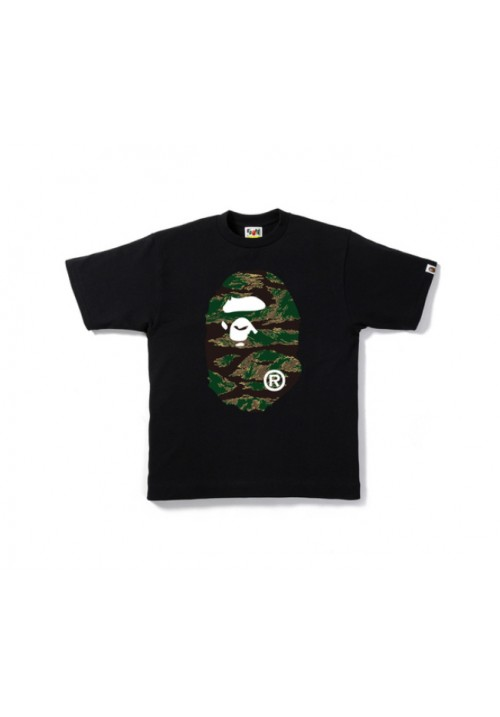 A Bathing Ape Bape Tiger Camo T-Shirt (Black)