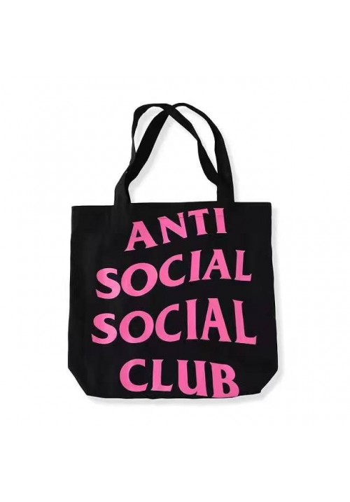 Anti Social Social Club ASSC Tote Bag (Black/Pink)