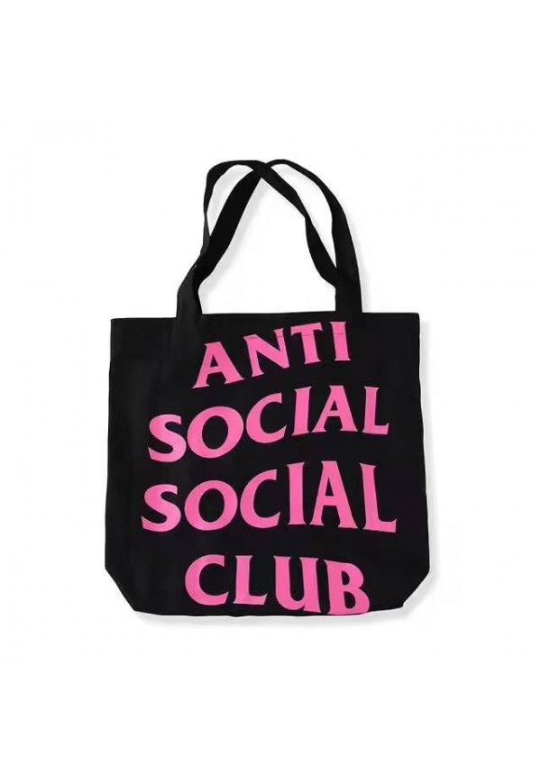 Anti Social Club ASSC Tote Bag Black Pink
