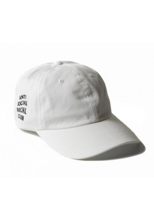Anti Social Social Club Black Label Strapback Hat (White)