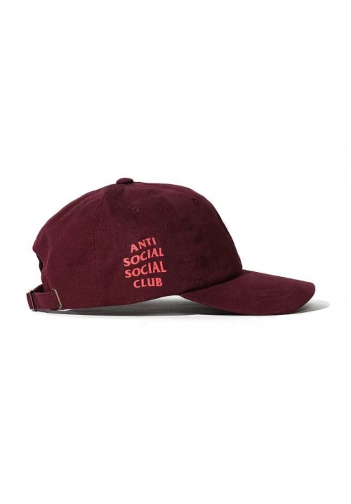 Anti Social Social Club Label Strapback Hat (Maroon)