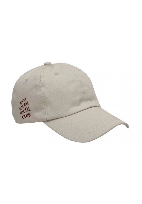 Anti Social Social Club Maroon Label Strapback Hat (White)