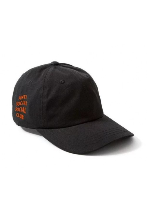 Anti Social Social Club Orange Label Strapback Hat (Black)