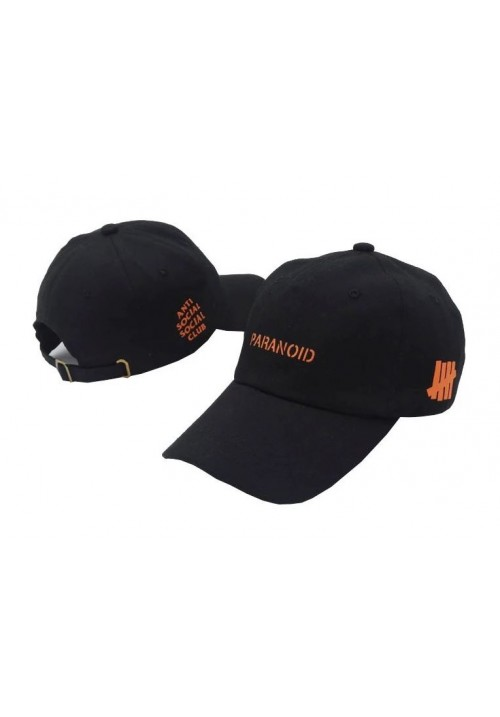 Anti Social Social Club Paranoid Strapback Hat (Black)