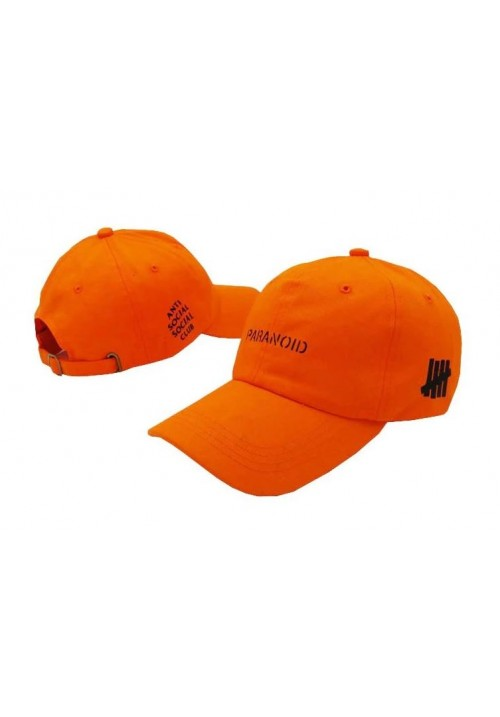 Anti Social Social Club Paranoid Strapback Hat (Orange)