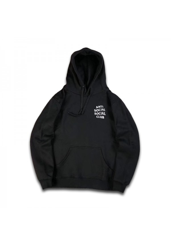 Anti Social Club Logo Hoodie Black