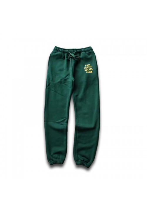 Anti Social Social Club Logo Sweatpants (Green)