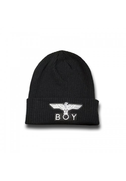 Boy London Eagle Logo Beanie Hat (Black/White)