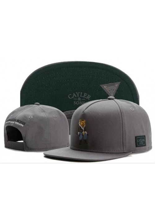 Cayler And Sons Champagne Dreams Bear Snapback Hat (Gray)