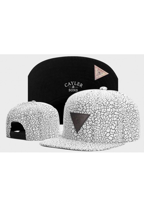 Cayler And Sons Cracked Pavement Snapback Hat (White)