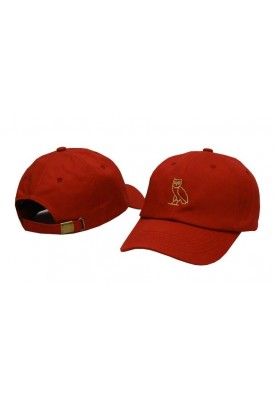 152db2d39816e Drake Ovo Gold Owl Strapback Hat (Red)