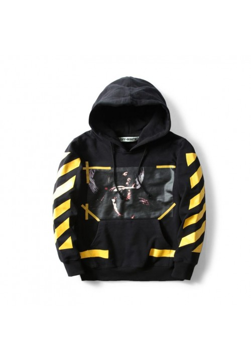 Off White Caravaggio Angel Hoodie (Black)