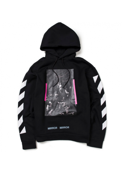 Off White Caravaggio Mirror Hoodie (Black)