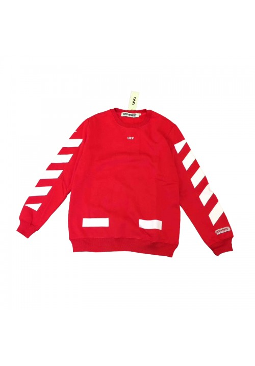 Off White Diagonal Sleeve Sweater (Red)